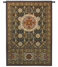 Gothic Medallion | Woven Tapestry Wall Art Hanging | Intricate 12th Century Romanesque Design | 100% Cotton USA Size 76x53 Wall Tapestry