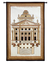 Fine Art Tapestries Palladio Facade I Hand Finished European Style Jacquard Woven Wall Tapestry USA 51X33 Wall Tapestry