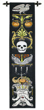 Hallows Panel By Gothic Panel Depicting Spooky Icons - Woven Tapestry Wall Art Hanging For Home Living Room & Office Decor - Halloween Decor Motif Inspired Autumnal Spirits - 100% Cotton - USA 60X19 Wall Tapestry