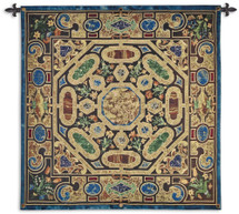 Verona - Woven Tapestry Wall Art Hanging For Home Living Room & Office Decor - Italian Style Of Detailed Stonework Gems Jewels Wall Ornate Pattern Artwork - 100% Cotton - USA 52X52 Wall Tapestry