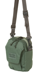 Mystery Ranch Big Bop Canteen/Water Bottle Carrier (Cargo)  Mystery Ranch Big Bop Canteen/Water Bottle Carrier is an essential for every traveler! Originally designed to be worn solely as a shoulder bag, the BIG BOP now expands its options. Shoulder strap, MOLLE attachment to the main pack, or 'biner it to an attachment point of your choice. The interior shines with simplicity, showcasing a single pocket under the protective flap. A one-handed One Drop quick-adjust shoulder strap lets you dial the pack in, one-handed, and on the fly.    Removable one-drop quick-adjust shoulder strap MOLLE on the back for attaching to belt or loop for carabiner One interior pocket Exterior, gusseted front pocket with VELCRO® flap closure.  330 Robic fabric with YKK Zippers