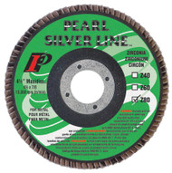 Pearl Abrasive Silverline Zirconia Maxidisc/Flap Disc 6 x 7/8 inch Z40, Z60, Z80, Z120 Grit 10 Count Box MX6040ZT, MX6060ZT, MX6080ZT, or MX6120ZT