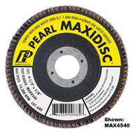 Pearl Abrasive T-27 Aluminum Oxide Premium Maxidisc Flapdisc 10ct Case A40, A60, A80, A100 or A120 Grit 4 x 5/8 MAX4040, MAX4060, MAX4080, MAX4100, MAX4120
