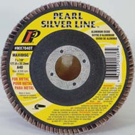 Pearl Abrasive T-27 Aluminum Oxide Silver Line Maxidisc Flapdisc 10ct Case A40, A60, A80 or A120 Grit 7 x 5/8-11 MX7040TH, MX7060TH, MX7080TH, MX7120TH