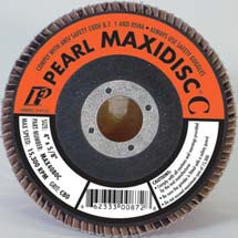 Pearl Abrasive T-27 Silicon Carbide MaxiDisc Flapdisc 10ct Case C80, C120, C240, C320, C400 or C600 Grit 4 1/2 x 5/8-11 inches MX4580CH, MX4512CH, MX4524CH, MX4532CH, MX4540CH, MX4560CH