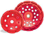 Pearl Abrasive P2 Pro-V Cup Wheel for Concrete and Masonry 4 x 5/8-11 Single Row PV04CH