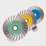 Pearl Abrasive P5 Turbo Cup Wheel for General Purpose 4 x 5/8-11 Coarse PW4CH