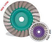 Pearl Abrasive P4 Turbo Cup Wheel for Granite 4 x 5/8-11 Medium PW4MHPRF