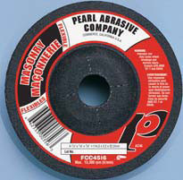 Pearl Abrasive T-27 Silicon Carbide Flexible Grinding Wheels CC36 or CC46 Grit 10ct Case 7 x 1/8 x 7/8 FCC7036, FCC7046