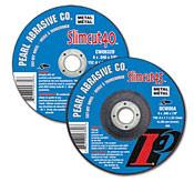 Pearl Abrasive T-1 Aluminum Oxide Slimcut 40 Thin Cut Off Wheel 25ct Case A46 Grit 6 x .040 x 3/8 CW0632D