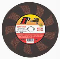Pearl Abrasive SRT T-1 Contaminant Free Cut Off Wheel for Metal and Stainless Steel 25ct Case SRT36 Grit 7 x 1/1 x DIA 5/8 CW071DSR