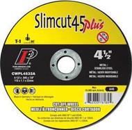 Pearl Abrasive T-1 Aluminum Oxide Slimcut 45 Plus Thin Cut Off Wheel 25ct Case A46 Grit 5 x .045 x 7/8 CWPL0532A