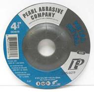 Pearl Abrasive T-27 Aluminum Oxide Premium Depressed Center Grinding Wheel A24R Grit 25ct Case 4 1/2 x 1/4 x 7/8 DC4510