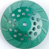 Pearl Abrasive P4 Swirl Segmented Cup Wheel for Concrete and Masonry 7 x 5/8-11 12 Segments DC7CSH