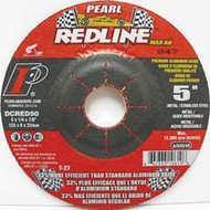 Pearl Abrasive T-27 Aluminum Oxide Redline Max A.O. Depressed Center Grinding Wheel for Pipeline 10ct Case A/WA30S Grit 5 x 1/8 x 5/8-11 DCRED50PH