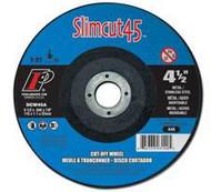 Pearl Abrasive T-27 Aluminum Oxide Slimcut 45 Thin Cut Off Wheel 25ct Case A46 Grit 4 x .045 x 5/8 DCW04A