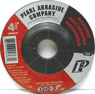 Pearl Abrasive T-27 Silicon Carbide Premium Depressed Center Grinding Wheel 10ct Case C24S Grit 4 1/2 x 1/4 x 5/8-11 DM4510H