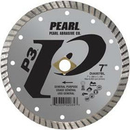 Pearl Abrasive P3 Pro-V Flat Core Diamond Turbo Blade 5 x .080 x 7/8- 5/8 Adapter DIA005BL