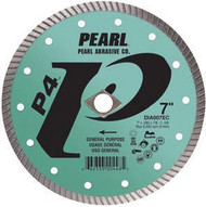 Pearl Abrasive P4 Pro-V Flat Core Diamond Turbo Blade 5 x .080 x 7/8- 5/8 Adapter DIA005EC