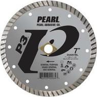 Pearl Abrasive P3 Pro-V Flat Core Diamond Turbo Blade 7 x .080 x DIA- 5/8 Adapter DIA007BL