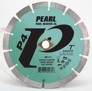 Pearl Abrasive P4 Pro-V Segmented Diamond Blade 7 x .080 x 7/8 DIA- 5/8 Adapter DIA007CP