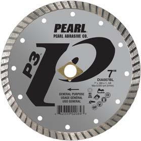 Pearl Abrasive P3 Pro-V Flat Core Diamond Turbo Blade 10 x .080 x DIA- 5/8 Adapter DIA010BL