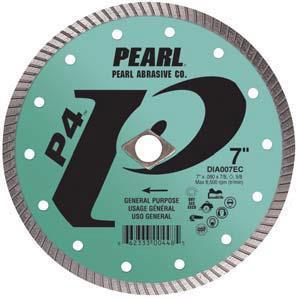 Pearl Abrasive P4 Pro-V Flat Core Diamond Turbo Blade 10 x .080 x DIA- 5/8 Adapter DIA010EC