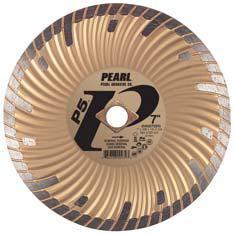 Pearl Abrasive P5 Waved Core Diamond Turbo Blade 10 x .080 x DIA- 5/8 Adapter DIA10SDG