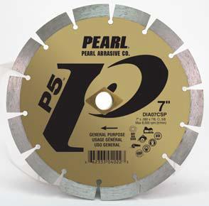 Pearl Abrasive P5 Pro-V Segmented Diamond Blade 4 1/2 x .080 x 7/8- 5/8 Adapter DIA45CSP