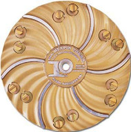 Pearl Abrasive Hexpin Floor Preparation System 15 inch plate w/12 Green Diamond Pins (General Purpose) HEX1712
