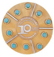 Pearl Abrasive Hexpin Floor Preparation System Superclutch w/15 inch Hexplate and 12 Gold Diamond Pins (Coarse Diamonds) HEX1712CCLT