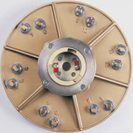 Pearl Abrasive Hexpin Floor Preparation System Superclutch w/15 inch Hexplate and 6 Diamond Cups HEX17CUPCLT