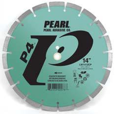 Pearl Abrasive P4 Segmented Diamond Blade for Concrete and Masonry 14 x .110 x 1, 20mm LW1411CP
