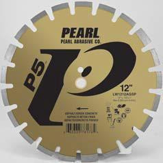 Pearl Abrasive P5 Segmented Diamond Blade for Asphalt and Green Concrete 14 x .125 x 1, 20mm LW1412AGSP