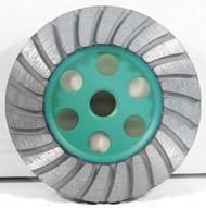 Pearl Abrasive P4 Turbo Cup Wheel for General Purpose 4 x 5/8-11 Coarse T4CHEFX