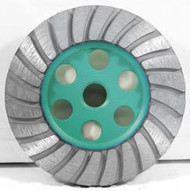 Pearl Abrasive P4 Turbo Cup Wheel for General Purpose 4 x 5/8-11 Medium T4MHEFX