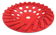 Pearl Abrasive Pro-V Series Swirl Segmented Cup Wheel 7 x 5/8-11 PV07CSH
