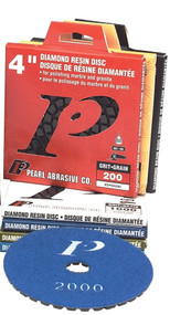 "Pearl Abrasive Premium Polishing Pad and Buff Kit 4"" 50-2000 grit and Buff SPD4KIT"