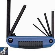Ecklind 6 pc Hex Key Series Ergo-Fold™ Fold-up Set with Ergonomic Handle 3-10MM 25161