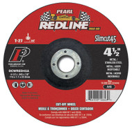 Pearl Abrasive T-27 Aluminum Oxide Slimcut 45 Max A.O. Redline Thin Cut Off Wheel 25ct Case A46 Grit 4 1/2 x .045 x 7/8 DCWRED45A