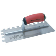 Marshalltown 11 X 4 1/2 DuraNotch™ Trowel-1/4 X 3/8 X 1/4 SQ w/Curved DuraSoft® Handle 15840