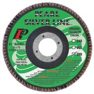 Pearl Abrasive Silverline Zirconia Maxidisc/Flap Disc 4 1/2 x 7/8 inch Z40, Z60, Z80 or Z120 Grit 10 Count Box MX4540ZT, MX4560ZT, MX4580ZT, MX45120ZT