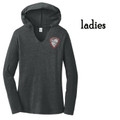 Ladies' Ladies Perfect Lightweight Long  Sleeve Hoodie with Embroidered HILLGROVE BANDS Crest
