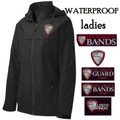 Ladies'  Waterproof Jacket - Black - with Embroidered HILLGROVE BANDS Design