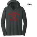 Men's Perfect Lightweight Long  Sleeve Hoodie with Crimson Red HILLGROVE BANDS Design