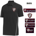 Men's  Black/Gray  Performance Contrast Polo with HILLGROVE BANDS Embroidered Design