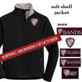 Men's Full Zip Soft Shell Jacket  with HILLGROVE BANDS Embroidered Design