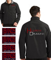 HILLGROVE DRUMLINE - Men's Full Zip Soft Shell Jacket  with Custom Embroidered Design