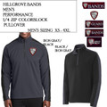 Men's Colorblock Quarter Zip Pullover with Embroidered HILLGROVE BANDS Logo Choice