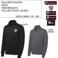 Men's Performance Fleece Full Zip Jacket with Embroidered HILLGROVE BANDS Logo Choice